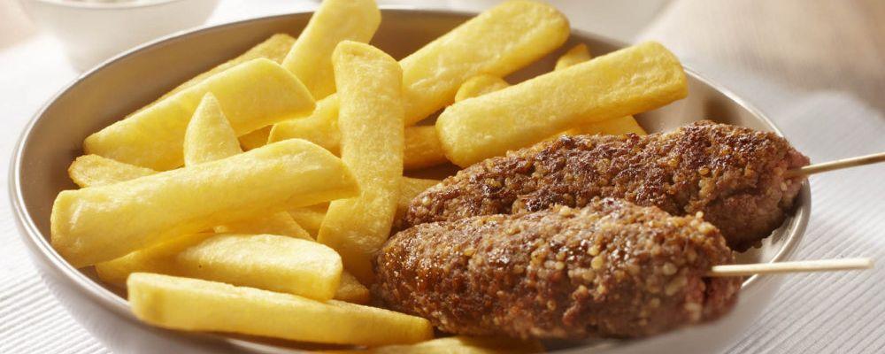 Kebab z grubymi frytkami Steak Fries